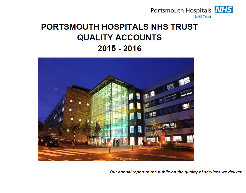 We have published our annual quality account on the NHS Choices website