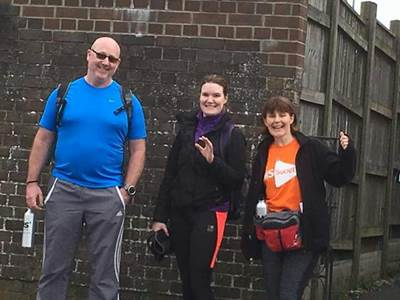 Research nurse Bev walks 100km on days off for charity
