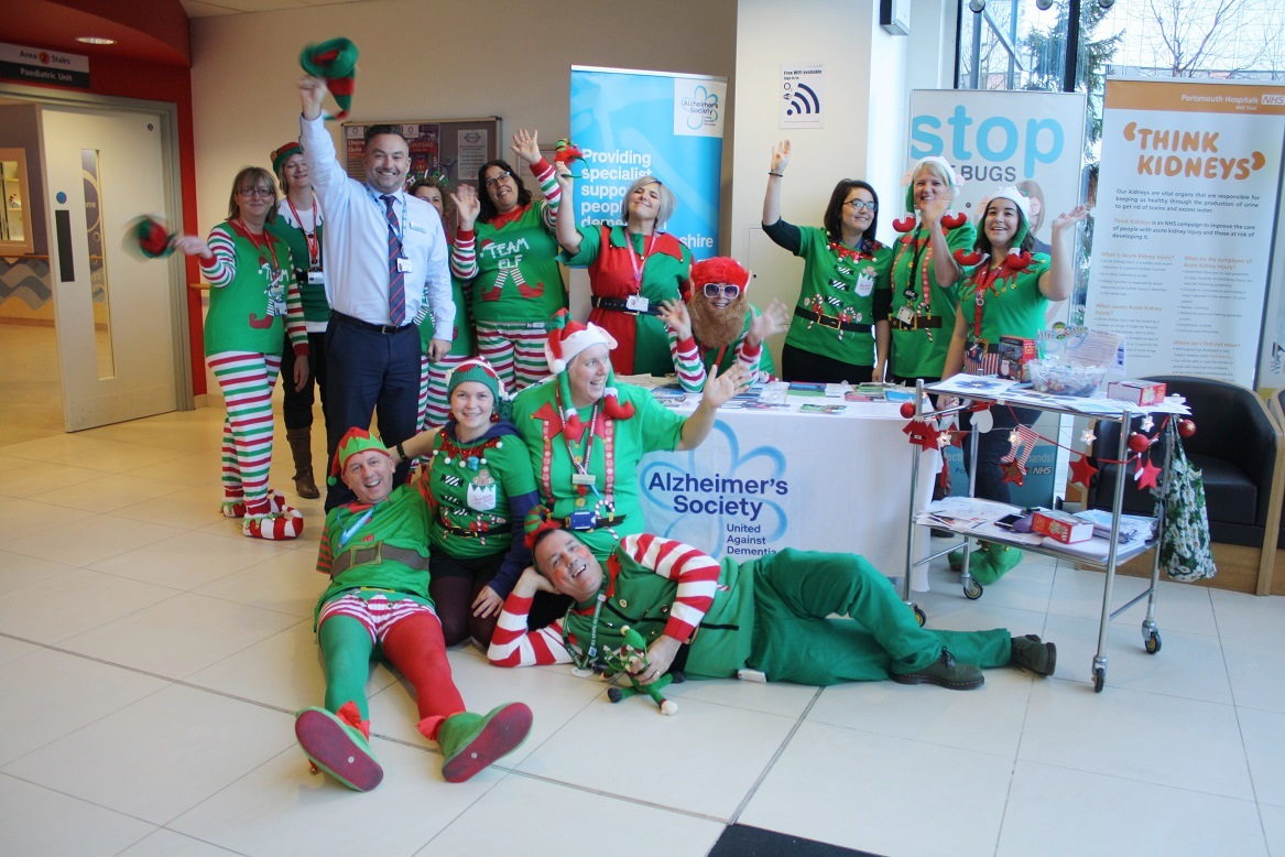 QA staff takes part in 'Elf Day' to raise funds for Alzheimer's Society