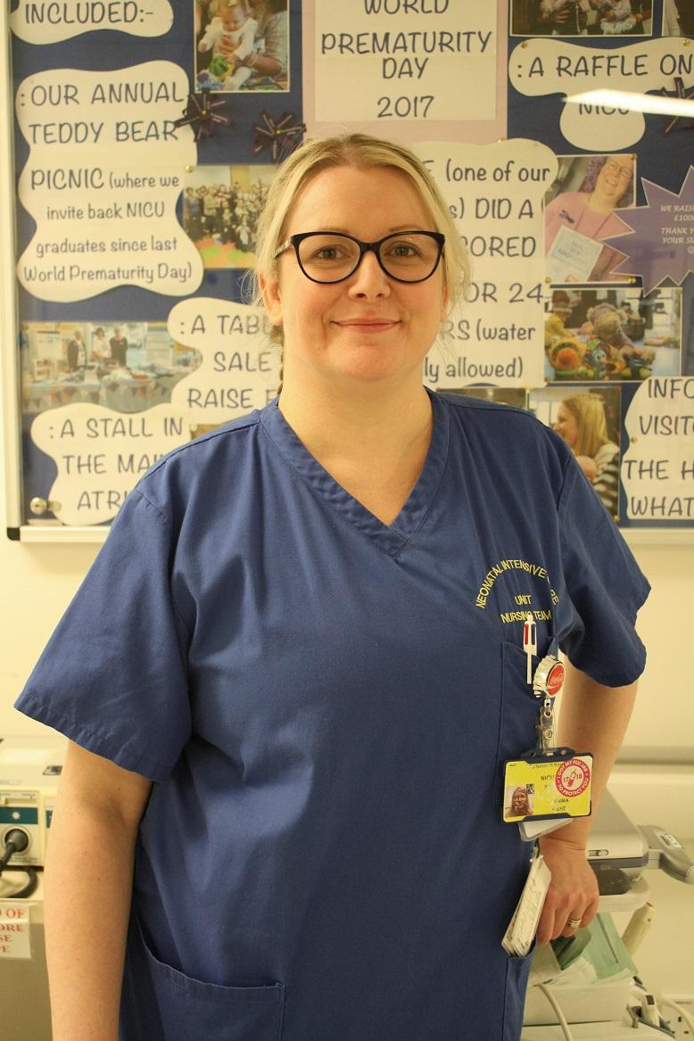 Emma Fisher, staff nurse in the NICU, is a flu vaccinator