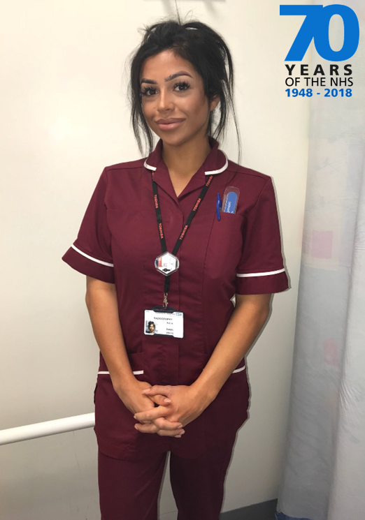Emma White, Radiology Department Assistant, is celebrating NHS 70th with us