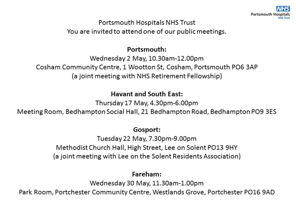 Come along to our public meeting on Tuesday 22 May!