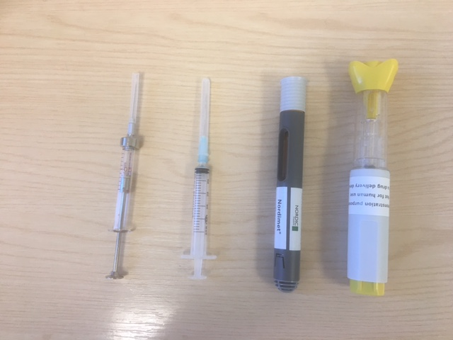 The advancement of needles and injections