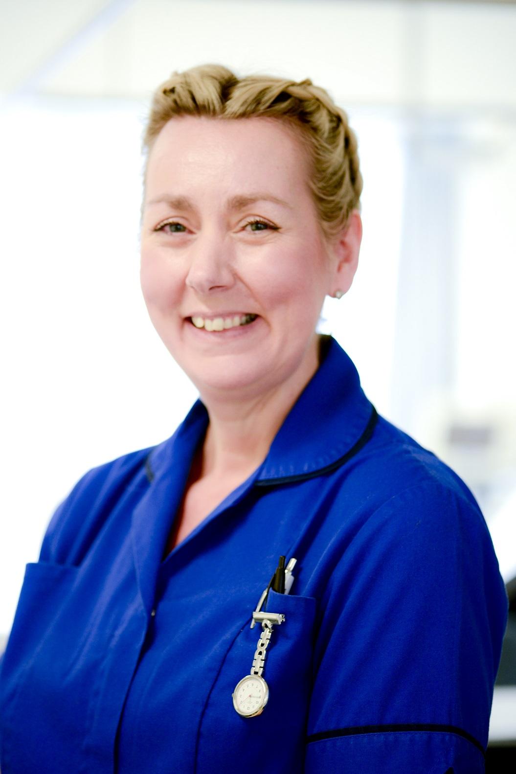 Paediatric nurse, Karen Dine, is celebrating NHS70!