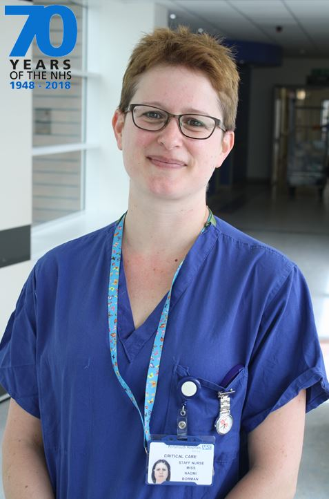 Naomi Borman can't think of any other organisation she would rather work for than the NHS