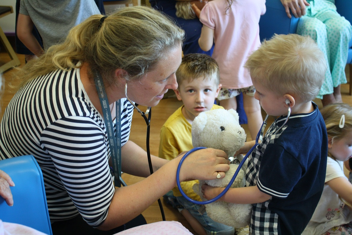Staff and patients at QA enjoy visit from Little People's Nursery