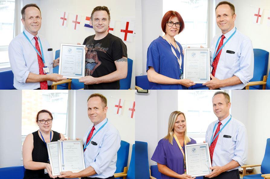 HSDU celebrates staff achievements with certificate presentation