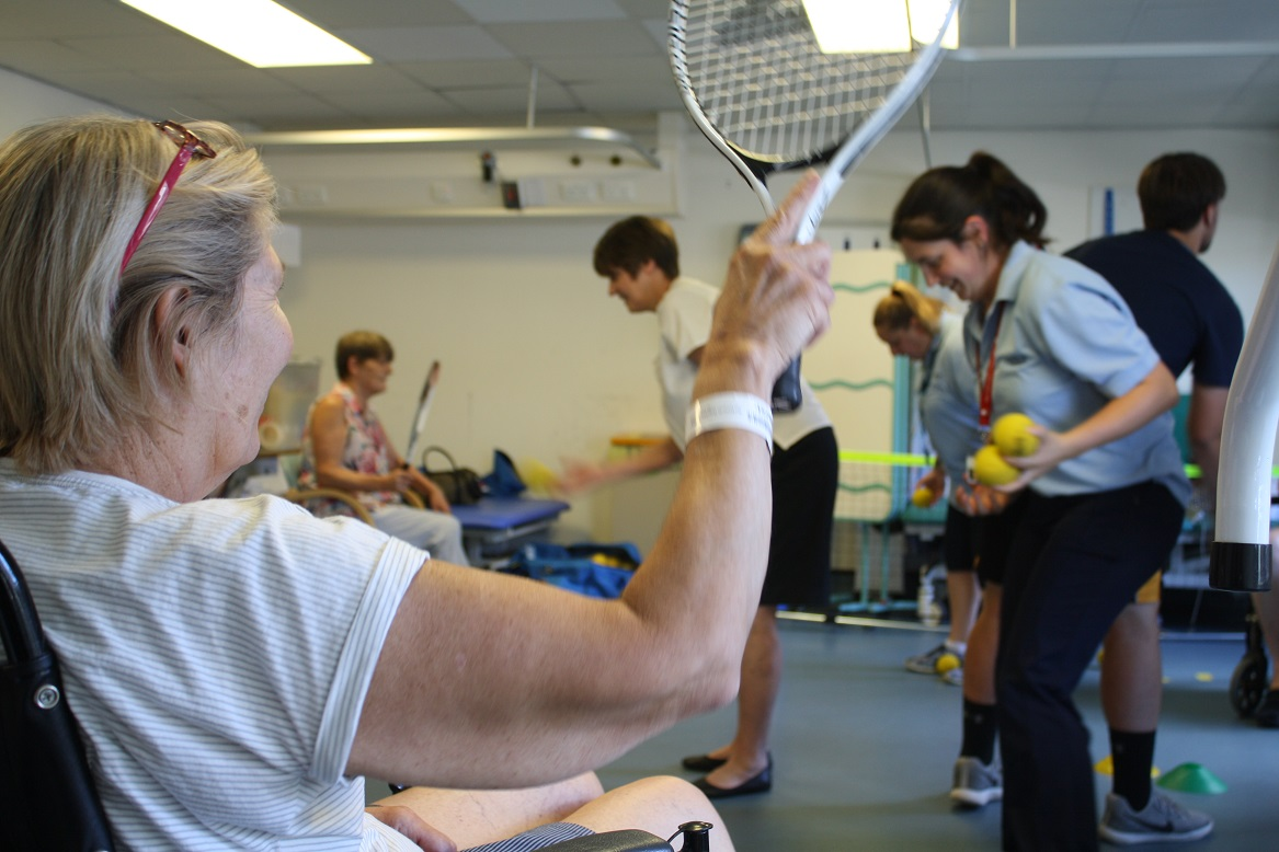 QA patients enhance therapy with tennis