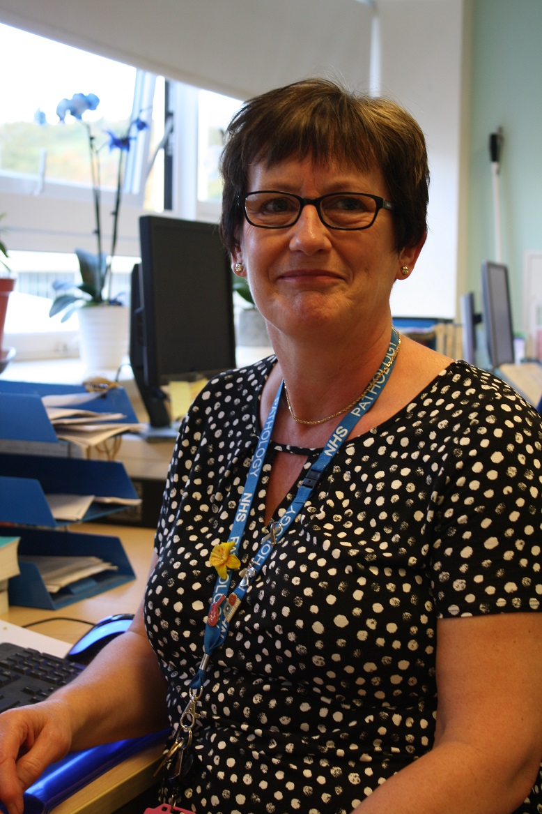 Microbiology Administrator, Sue, encourages her colleagues to get their flu vaccination
