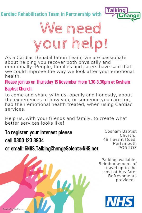 Cardiac services needs your help!