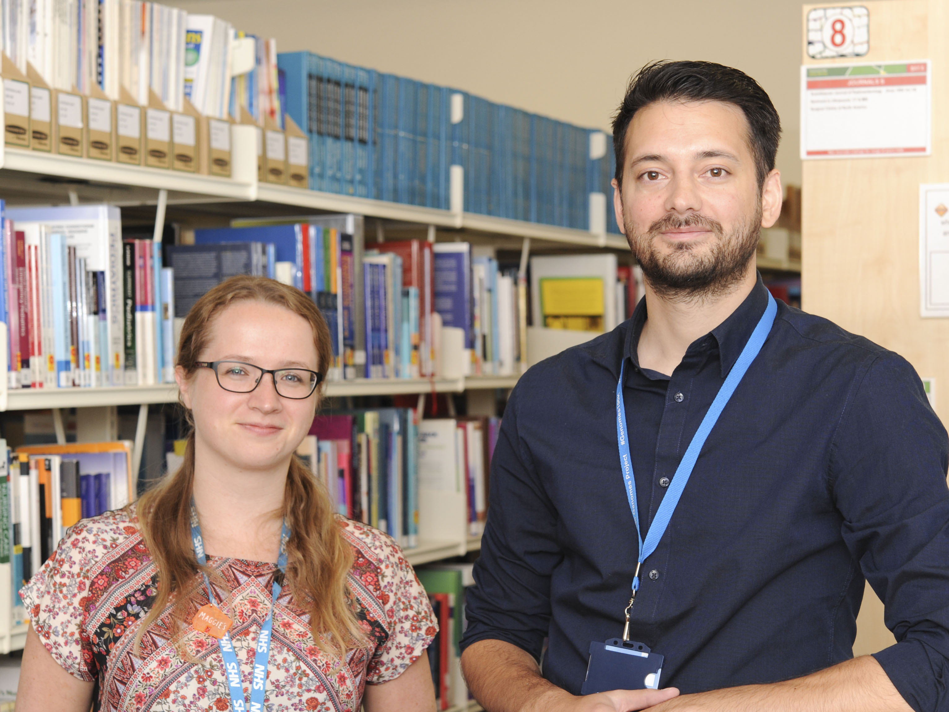 Rebecca and Aaron explain their role as a Clinical Librarian at the Trust