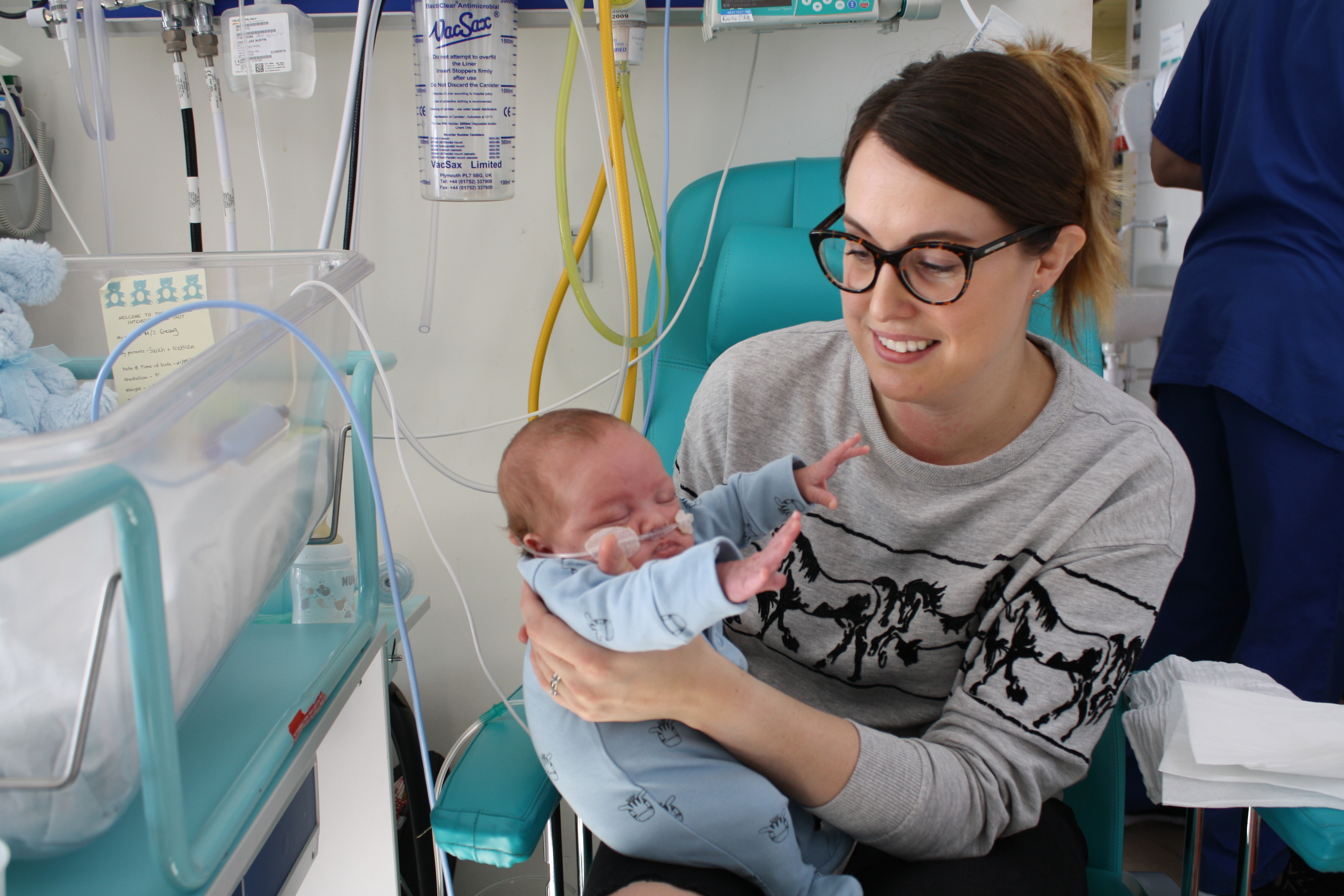 Sarah Craig from Waterlooville was 21 weeks pregnant when her waters suddenly broke