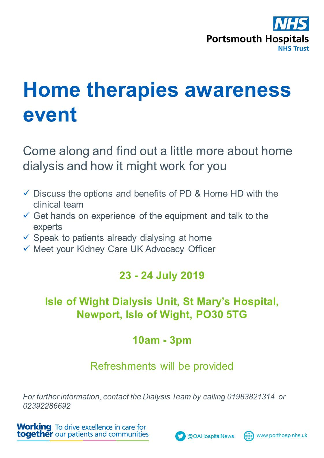 Home therapies awareness event