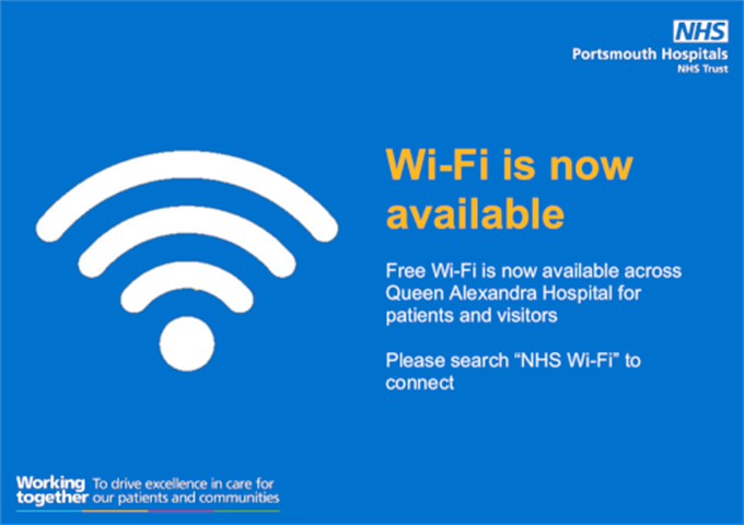 patient wifi poster